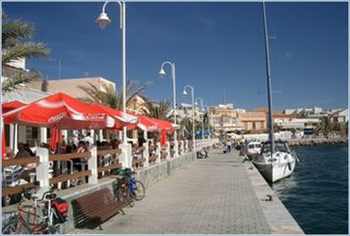 Harbour restaurants at cabo de palos