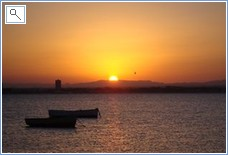 Stunning sunsets on the mar menor