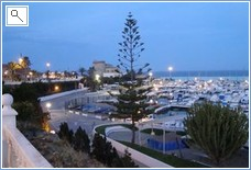 Evening view of the marina at Torre de la Horadada