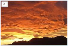 The spectacular, romantic sunset of San Juan