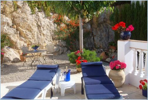 Delightful shaded garden area