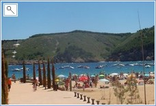 Local Cala Montgo Beach with restaurants