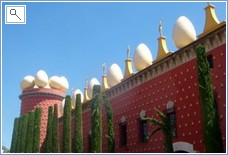 Exterior of Salvador Dalis amazing museum in Figueres
