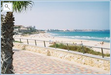 Another lovely local beach at Mil Palmeras with esplanade.