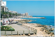 Take a walk down the esplanade at the old town of Torrevieja