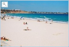 The Green Flag beach at La Zenia - fancy a dip?