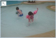 Our Grandchildren enjoying the kiddies pool