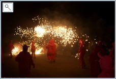 The Valencianos love their fireworks -this is Correfocs!