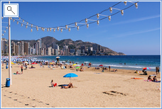 Levante Beach - Benidorm's most popular beach.