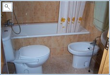bathroom with fixed shower, wc, washbasin and bidet - same a