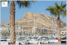 View of Alicante Marina and Castle
