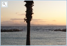 Playa Flamingo Beach in the evening