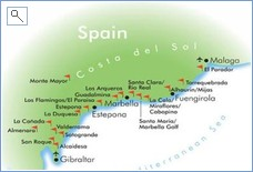 Some of the many golf courses on the Costa del Sol