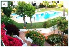 View of courtyard garden from the front door