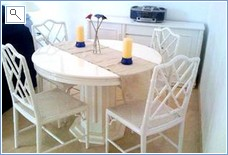 Dining Area with table & 4 chairs which can be extended