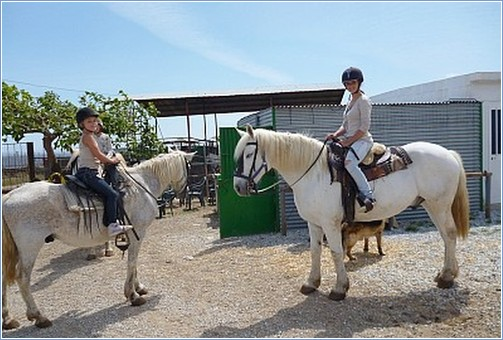 Horseriding with Antonio and Heidi