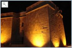 Moraira castle at night