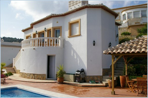 Villa and Superb pool with plenty of terraces and space.