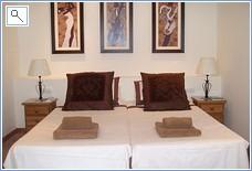 apartment bedroom with villa