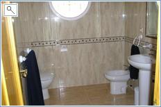 Spacious luxury bathroom