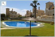 Safe walled garden around pool area
