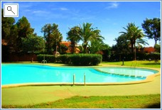 Nice large pool with sep Childrens area