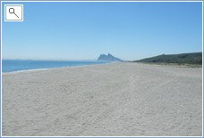 Alcaidesa beach looking towards Gibraltar