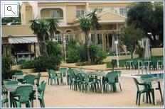 Orihuela resort pool and cafe