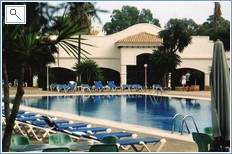 Orihuela resort pool and cafe