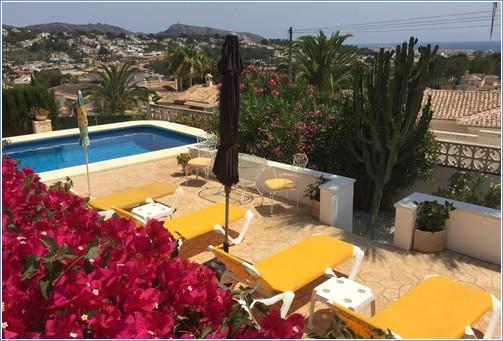 New pool terrace from naya balcony.