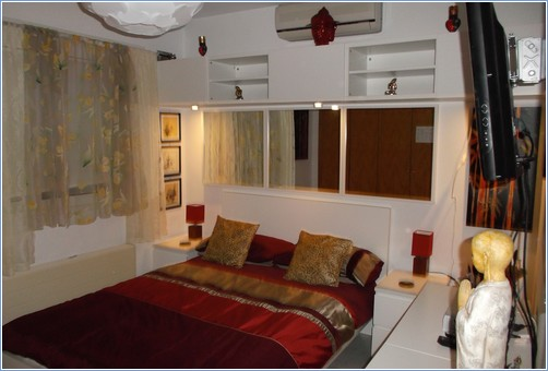 Second double bedroom with 32 inch TV
