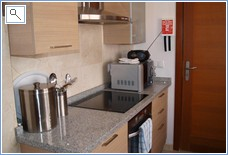 Kitchen, oven, hob, microwave, all utensils, radio