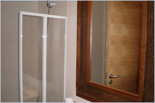 the bathroom provides bath and shower