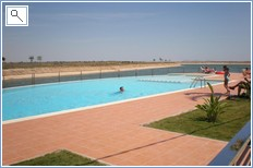 the swimming pool near the apartment