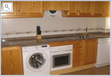 Kitchen with Dishwasher/Washing Machine/Microwave