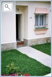Villa entrance with front garden
