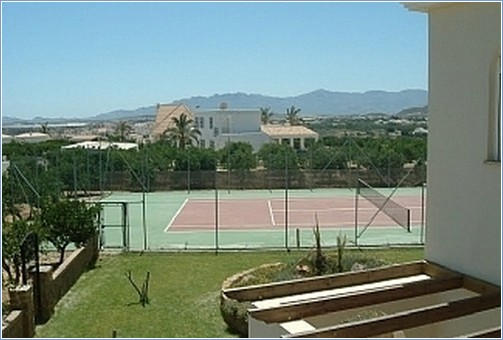 Private full size tennis court