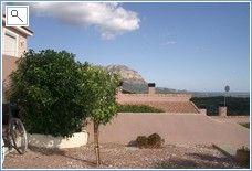 View from garden towards sea and Montgo