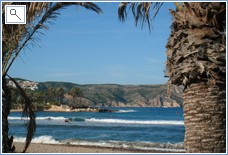 Nearby Arenal beach at Javea