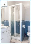 Beautifully fully tiled upstairs shower room