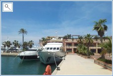 The new Marina in Denia with amazing boats/yachts/cruise shi