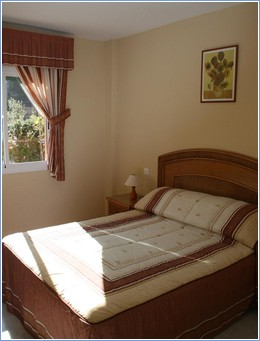 the spacious double bedroom