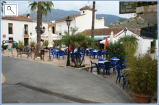 the local white washed village of Benahavis