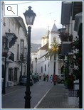 the old town of Marbella with is shops and bars
