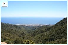 walking in the hills over looking Marbella