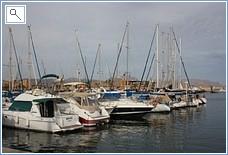 Mazarron port, 15 mins drive away
