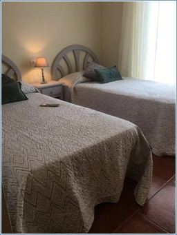 TWIN BEDDED ROOM WITH ENSUITE AND OWN BALCONY