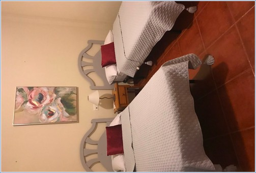 One of the 2 twin bedded rooms on the 2nd floor