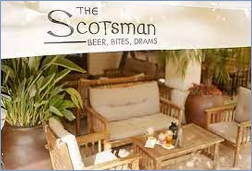The Scotsman - one of many bars to relax and enjoy a drink