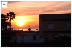 sunset at Los Granados